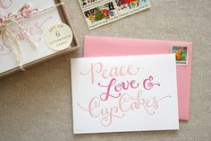 Peace Love Cupcakes Card