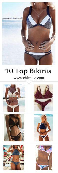 Starting from $14.99! Amazing top 10 bikinis are at www.chicnico.com! Bikini Swimwear Swimsuit 2016 Boho Strappy Floral Mono