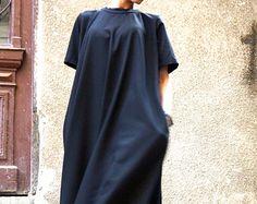 XXL, XXXL Maxi robe / noir caftan / Extravagant longue robe / robe de soirée / robe de vêtements par AAKASHA A03137