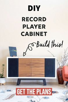 This DIY record player stand will blow your mind! It has storage for records and even space for the speakers. Get the step-by step tutorial, printable woodworking plans and watch the full video…