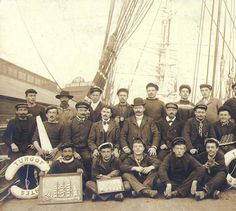 Capt. Cezard and the crew of the three-masted French bark TURGOT taken on deck, Seattle, Washington, 1903. :: Wilhelm Hester Photographs