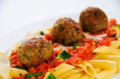 Greenwheat Freekeh Vegetarian Meatballs recipe from InHarvest food service. A vegetarian foodservice recipe featuring unique Freekeh. Freekah Recipes, Veggie Recipes, Vegetarian Recipes, Healthy Recipes, Healthy Meals, Vegan Vegetarian, Healthy Food, Healthy Cooking, Healthy Eating