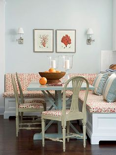 Banquette as Room Divider