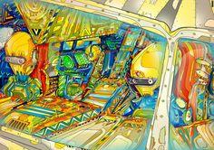 Stellar Freestyle Illustrations by Matei Apostolescu