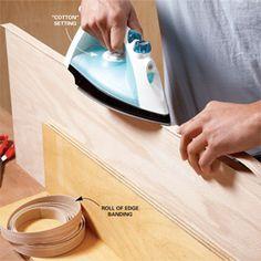 Veneer edging for plywood shelves