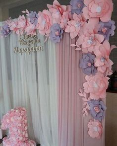 Discover thousands of images about Paper Flowers Baby Shower Themes, Baby Shower Decorations, Flower Decorations, Wedding Decorations, Paper Flower Wall, Paper Flower Backdrop, Giant Paper Flowers, Diy Flowers, Deco Originale