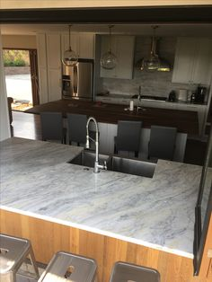 Marble Countertops, Granite, Engineered Stone, Stones, Kitchen, Home Decor, Rocks, Cuisine, Kitchens