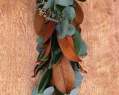 Freshly Harvested Magnolia, Silver Dollar, and Seeded Eucalyptus Garland *Pre Order* - Modern Magnolia Garland, Greenery Garland, Magnolia Leaves, Eucalyptus Bouquet, Eucalyptus Garland, Seeded Eucalyptus, Wedding Flower Guide, Wedding Flowers, Wedding Ideas