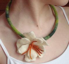 Wet Felted Flower Jewelry - FIBER ARTS