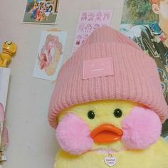 I'm obsessed with this duck thing -Avery ; Cute Stuffed Animals, Cute Animals, Cute Ducklings, Duck Toy, Cute Memes, Cute Toys, Cartoon Wallpaper, Pink Aesthetic, Plushies