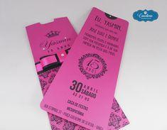 Convite 15 Anos - Rosa Pink e Preto