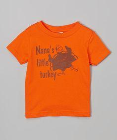 Orange 'Nana's Turkey' Tee - Infant Toddler & Kids