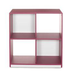 Meuble de rangement à 4 cases / étagère Framboise réversible blanc - Cool - Les étagères - Bibliothèques, étagères et living - Tous les meubles - Décoration d'intérieur - Alinéa