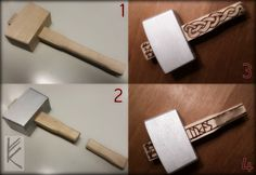 Hand- and selfmade Mjölnir for my youngest son