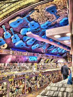 Music Store at Camden Market, London