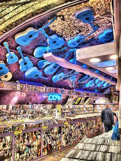 Music Store at Camden Market, London
