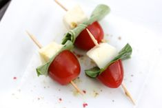 Mini Caprese Salad Skewers - perfect New Year's Eve appetizer