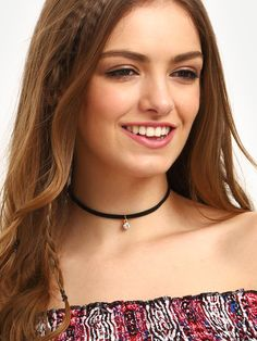 Shop Black Diamond Pendant Velvet Choker at ROMWE, discover more fashion styles online. Romwe, Lingerie Fine, Ootd, Black Choker, Street Style, Lookbook, Gold Style, Black Style, Black Velvet