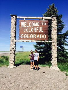 These Bears bring their maroon and white to colorful Colorado while visiting family.