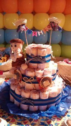 Esse valor inclui apenas a parte da decoração feita com Balões.   O bolo de  fraldas 8a4bedb2c20
