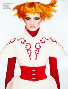 Constance Jablonski por Anthony Maule para Vogue 2009
