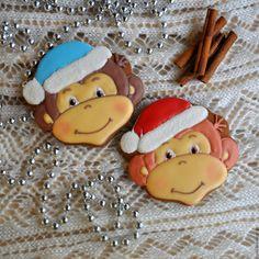 Купить Пряничные обезьянки - символ года, корпоративный подарок на Новый год - пряник, расписные пряники