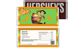 El Chavo del 8 Birthday Candy Bar Wrappers Party Favors