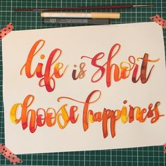 Life is short, choose happiness 🙏🏻😘💋 #letteringwithpositivity late ;) #calligraphy #calligraphie #moderncalligraphy #brushcalligraphy #brushlettering  #typography #handtype #handlettering #word #font #lettering #handlettered #handwriting #brushlettered #letteringchallenge  #dailylettering #calligraphylove #design #art #inspiration #followme #brushpen #watercolor #brushscript #handwritten #lettering #scriptlettering #calligritype #goodtype