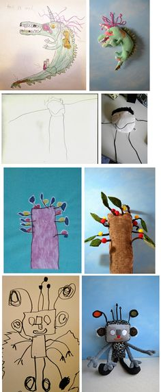 Toy Art - Children's drawings became real cute toys #4