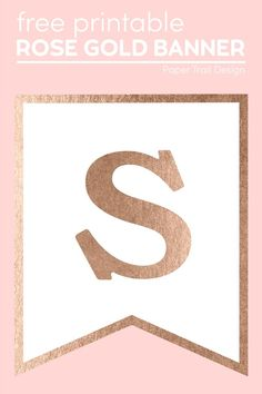 Use our rose gold printable letters to make a rose gold banner template sign for your holiday home decor or for a party or birthday. #papertraildesign #rosegold #rosegoldbanner #homedecor #freebanner Christmas Printables, Party Printables, Free Printables, Free Banner, Banner Template, Gold Banner, Paper Trail, Printable Letters, Party Themes