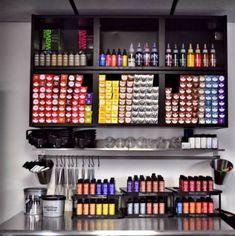 Colour bar | Salon | Pinterest