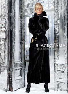 Carolyn Murphy is the face of the Blackglama Fall 2013 campaign