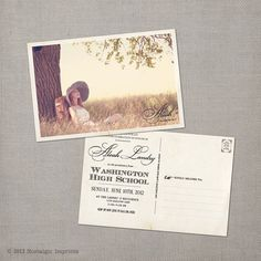 Vintage Graduation Invitation Announcement  by NostalgicImprints, $38.00