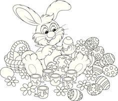 ausmalbilder kaninchen 09 | ausmalbilder | Pinterest