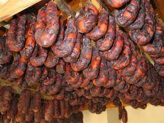 Portuguese sausages (Home made enchidos: Chouriças, Chouriço)