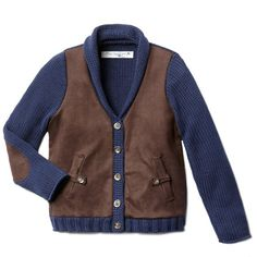 Wool and Cotton Blend Cardigan