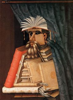 Mannerism - Giuseppe Arcimboldo, The Librarian, Skokloster Castle. Giuseppe Arcimboldo, Renaissance Kunst, Italian Renaissance, Photo Images, Time Painting, Painting Clouds, National Gallery Of Art, Italian Painters, Oil Painting Reproductions