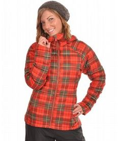 Burton Ak Baker Insulated Snowboard Jacket Yarn Dye Plaid For all you ladies out there looking for that timeless winter jacket that will keep you looking stylish and feeling oh so warm, this is the one for you. This is made with a dryride ultrashell soft insulated shell, featuring a downfill for much needed warmth all winter long. Microfleece hand warmers is an added bonus to keep those hands warm and cozy too. So perfect, sport this jacket all winter long.