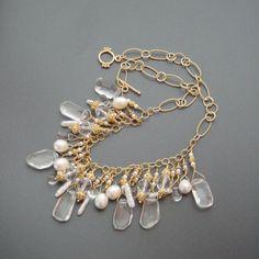 Rocking Crystal Briolette Necklace  LA TI par karensugarmandesigns