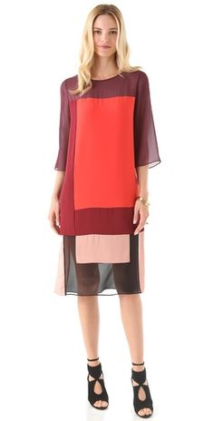 *Fav Collection! BCBG Colorblocked in Reds of the Season $398.