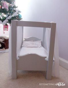 DIY Canopy Doll Bed
