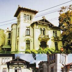 """Casa Elie Radu de pe strada Icoanei, colț cu strada Alexandru Donici nr. 40, este printre conacele bucureștene remarcabile de final de secol 19.  Ridicată în 1898 după planurile arhitectului italian Giulio Magni, construcția impresionează prin volumetrie (mai ales turnul de pe colț) și ornamentele de fațadă (în special """"teracotta maiolicata"""" albă, galbenă, verde, albastră). Beautiful Stories, Bucharest, Mansions, House Styles, Amazing, Vintage, Fancy Houses, Vintage Comics, Mansion"""