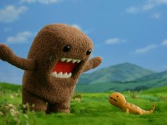 DOMO!  ...But why is he yelling at a lizard :( lmao