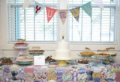 So crafty and wonderful. I love every aspect. From the pies, to the simple cake, to the quilt. I adore the whole thing!