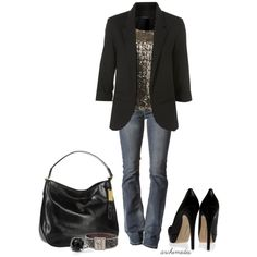 Definitely a girls nite out outfit! Love the blazer and great universal length and fit for any occasion!