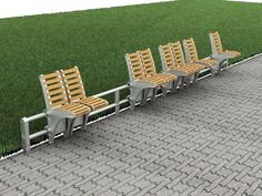 Sliding Bench by Mutlu Kılınçer - Wouldn't it be nice if you could slide away when you want to be alone?