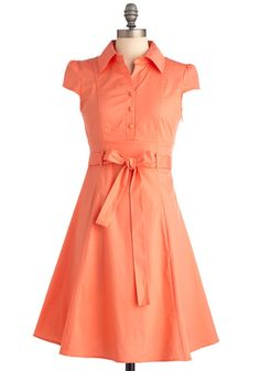Soda Fountain Dress in Papaya. $44.99