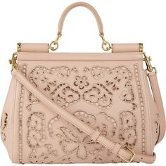 Dolce & Gabbana Cutwork-Embroidered Miss Sicily Bag (74 185 UAH) ❤ liked on Polyvore featuring bags, handbags, shoulder bags, dolce gabbana purse, embroidered purses, pink bag, dolce gabbana handbag and dolce gabbana bag