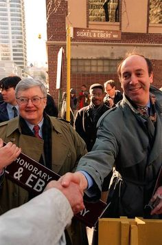 In 1995, part of Erie Street was renamed for Gene Siskel and Roger Ebert (left), the unlikely but enduring team that added the thumb to the critic's arsenal.