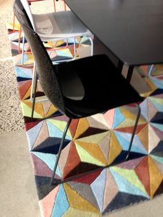 Chair and rug from Bo Concept